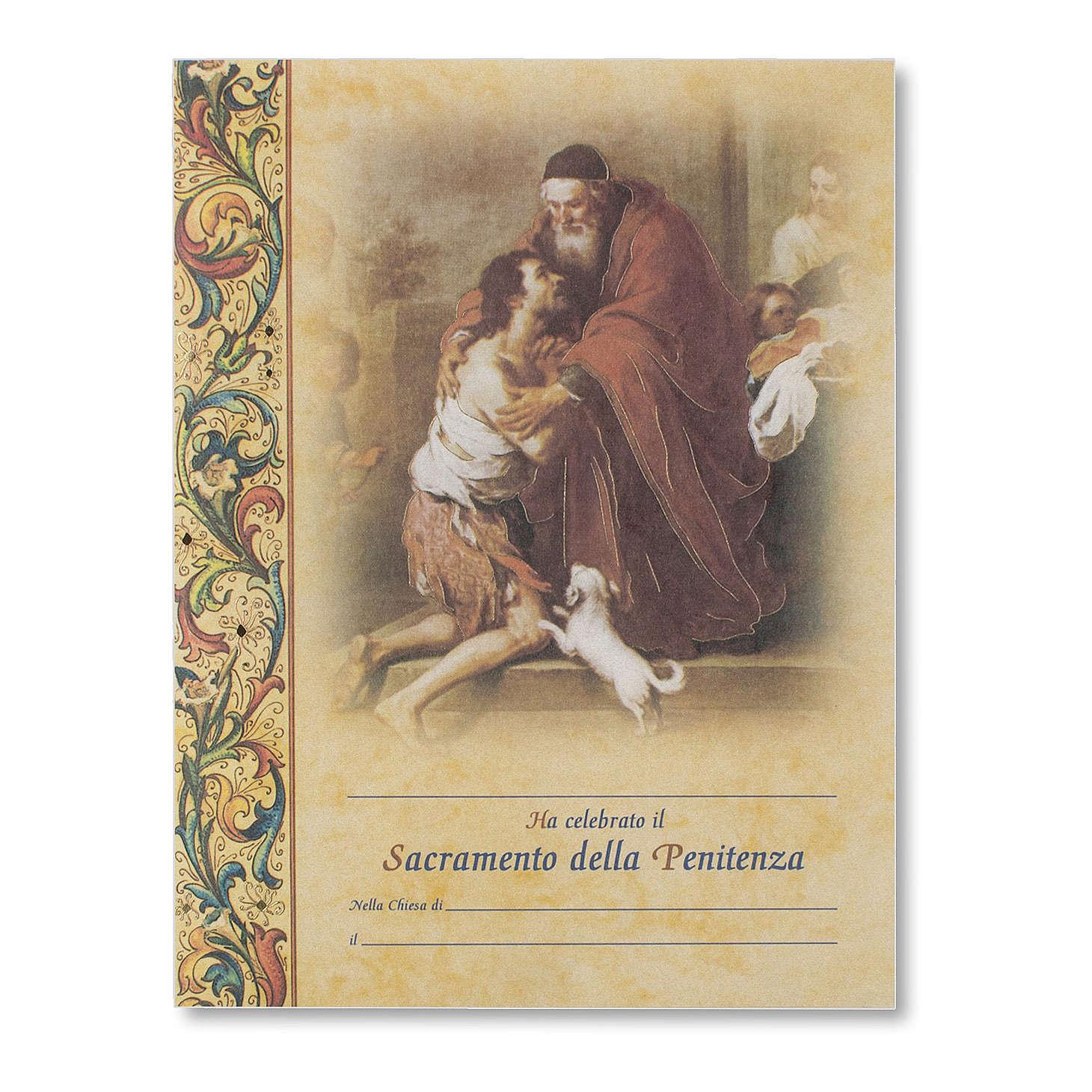 Pergamena Confessione Ritorno del Figliol Prodigo di Murillo 3