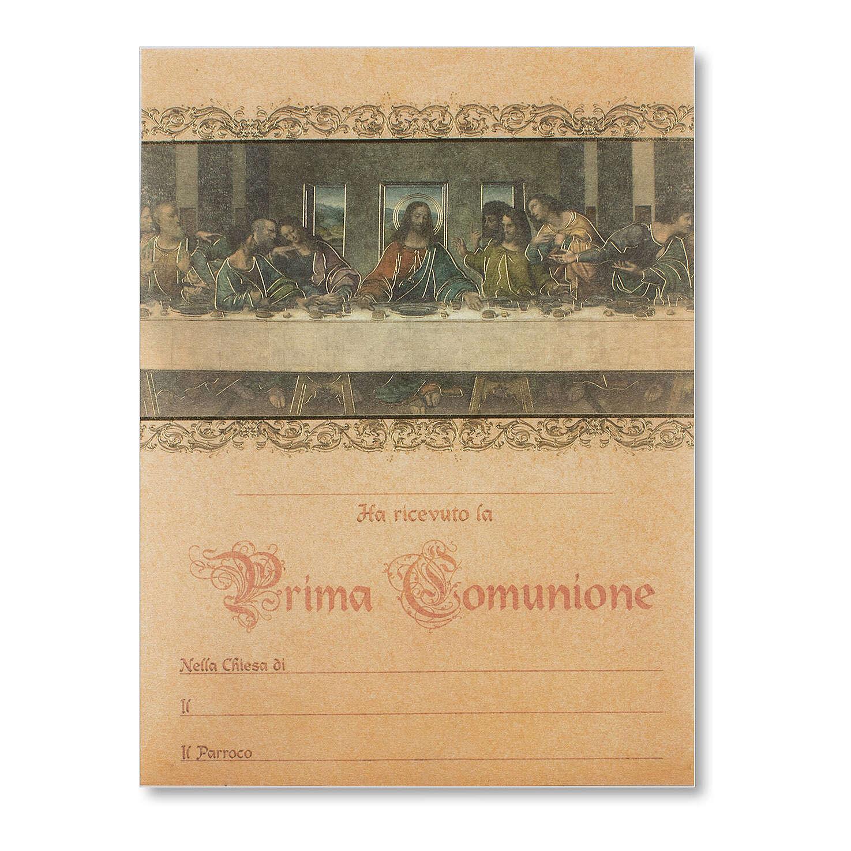 Pergament Erstkommunion das Abendmahl von Leonardo da Vinci 3