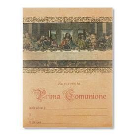 Pergament Erstkommunion das Abendmahl von Leonardo da Vinci s1