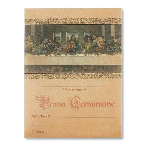 Pergament Erstkommunion das Abendmahl von Leonardo da Vinci 1