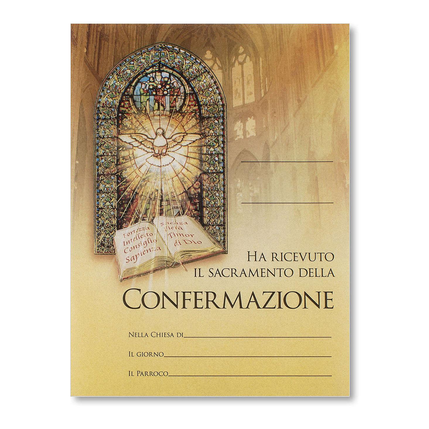 Pergamena Cresima Doni dello Spirito Santo 3