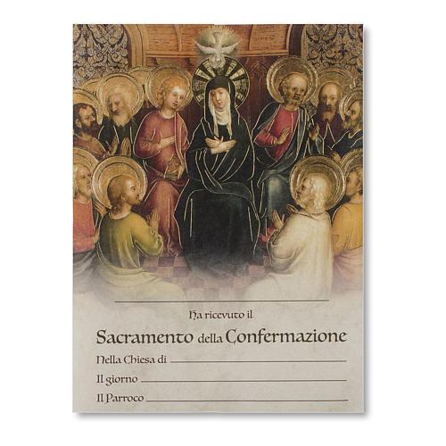 Pergamena Cresima Discesa dello Spirito Santo con Apostoli 1