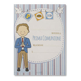 Parchment for Holy Communion Boy receiving Holy Communion s1