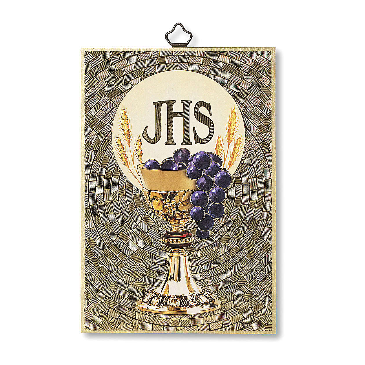Gift for Holy Communion print on wood with parchment 3