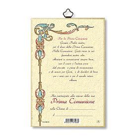 Stampa su legno Ricordo della prima Comunione Diploma s3