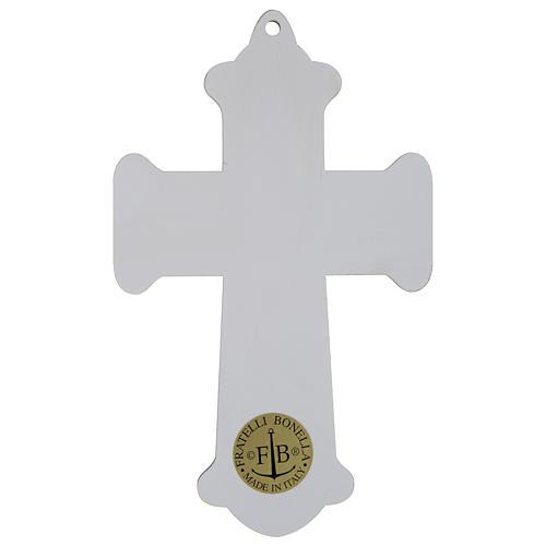 Cruz Comunión impresa sobre madera Cáliz y Última Cena 3