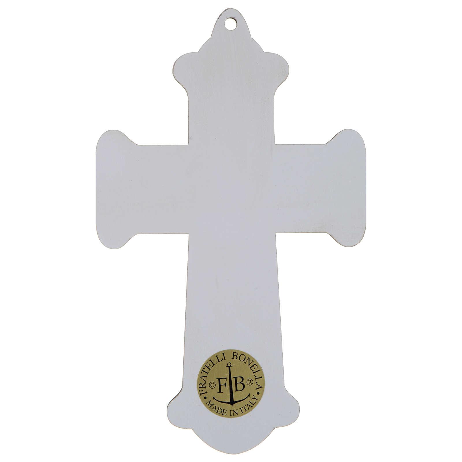 Croix Communion impression sur bois Calice et Cène 3