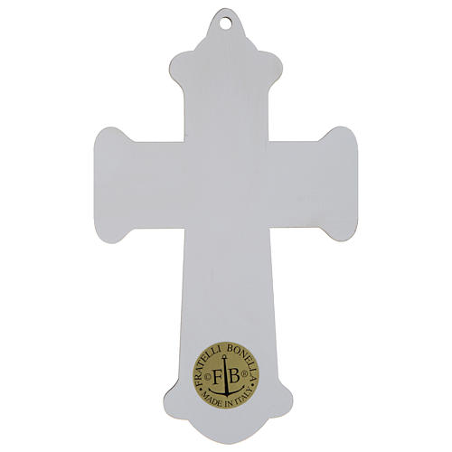Croce Comunione stampa su legno Calice e Ultima Cena 3