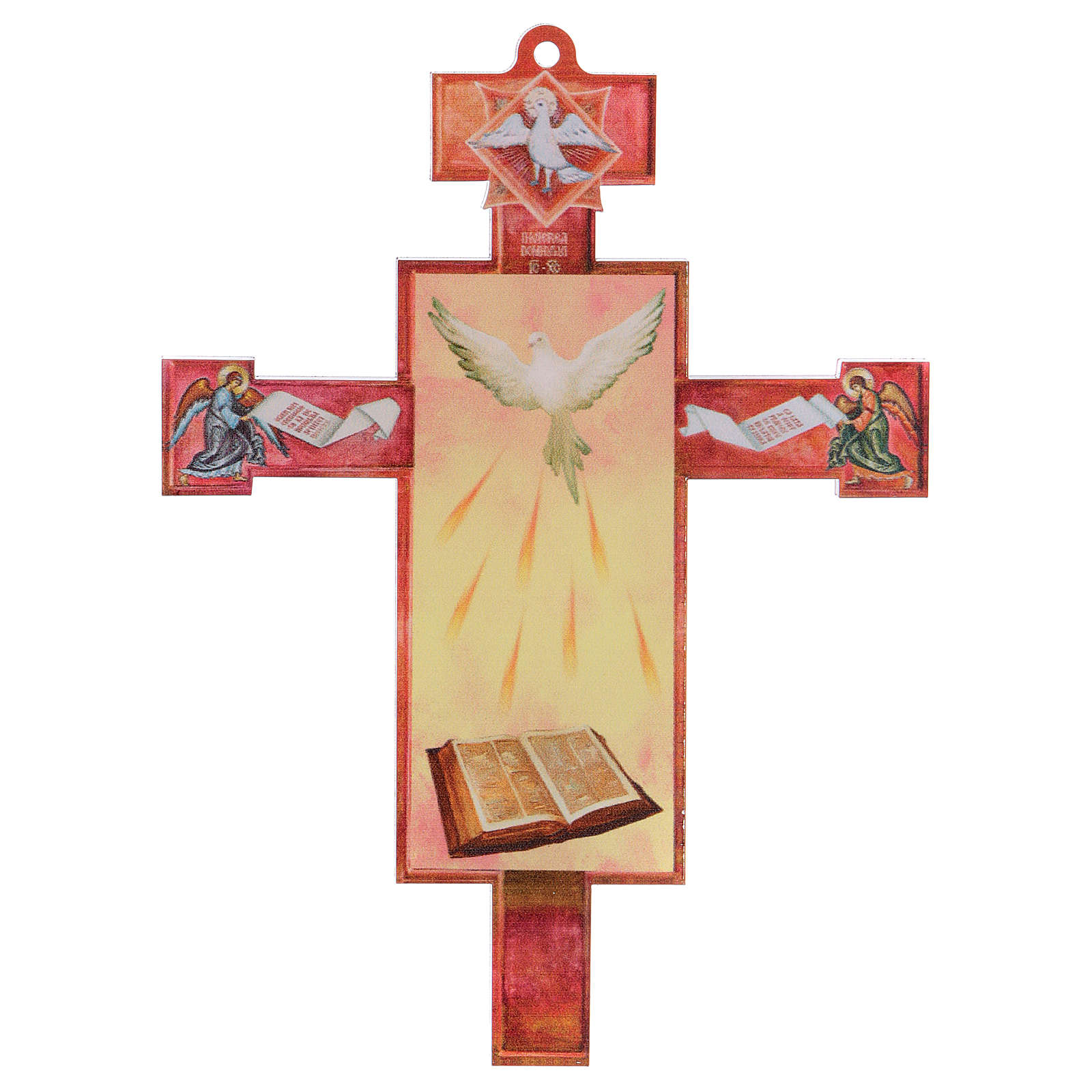 3D Holy Communion cross with Holy Spirit diploma 3