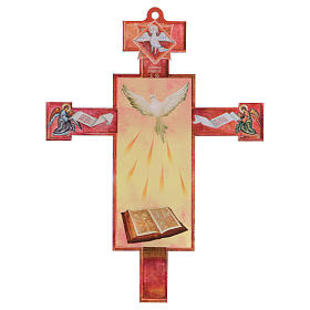 3D Holy Communion cross with Holy Spirit diploma s2
