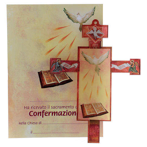3D Holy Communion cross with Holy Spirit diploma 1
