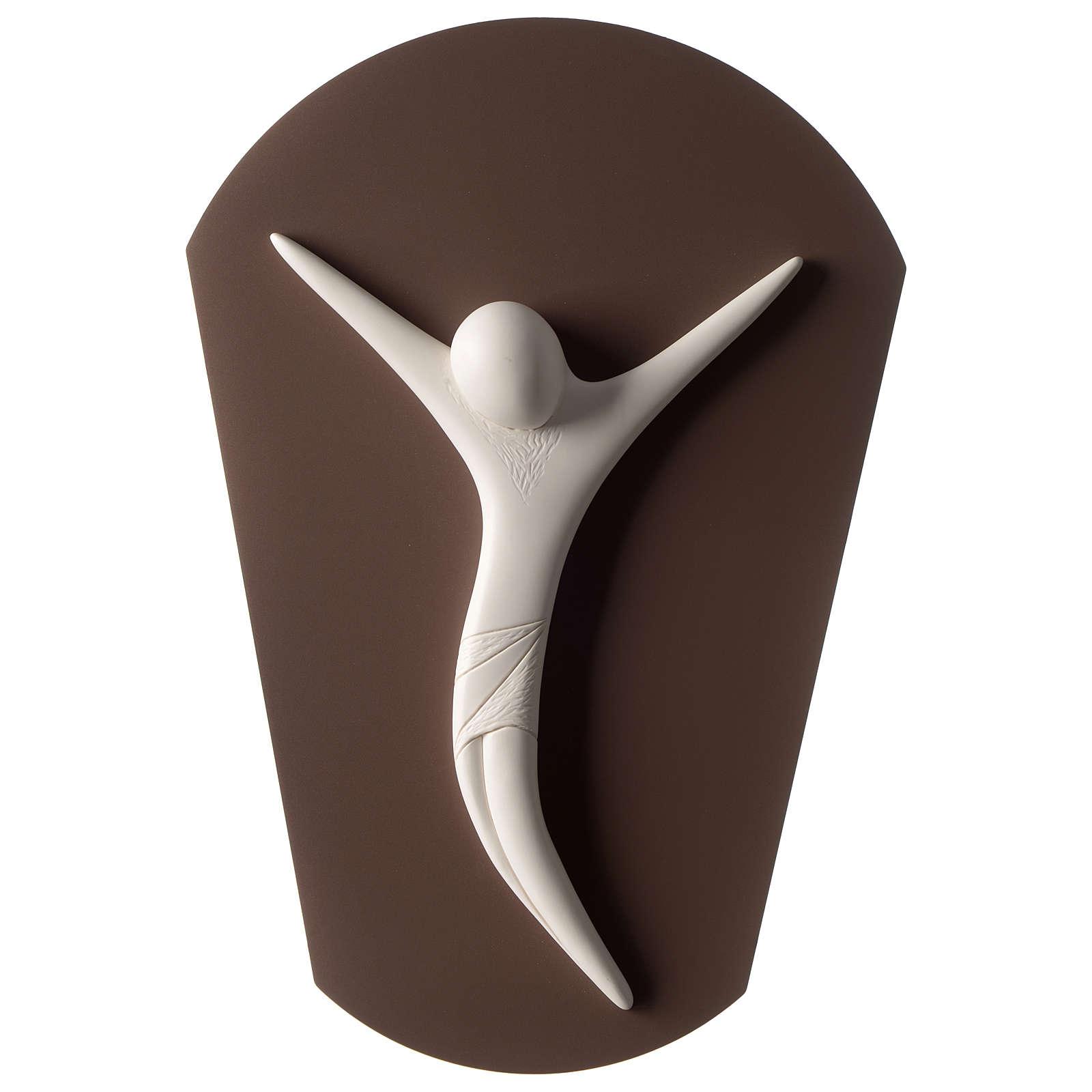 Crocefisso corpo stilizzato resina bianca 45 cm 3