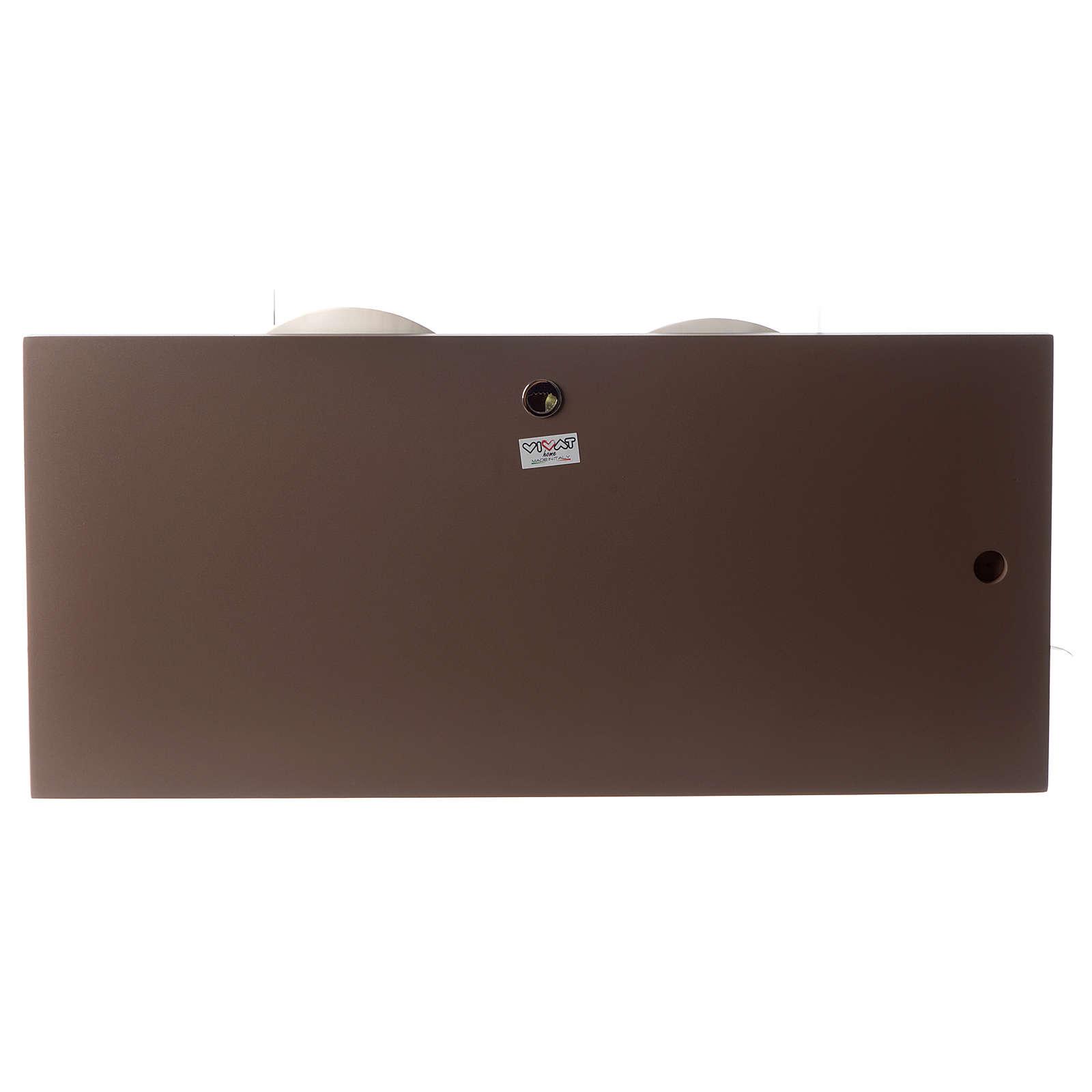 Capoletto Sacra Famiglia bianco e tortora 25x55 cm resina e legno 3