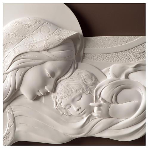 Quadro capoletto Madonna e bambino resina e legno 25x55 cm 2