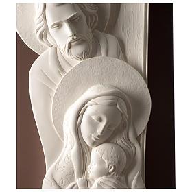Quadro Sacra Famiglia verticale resina e legno s2