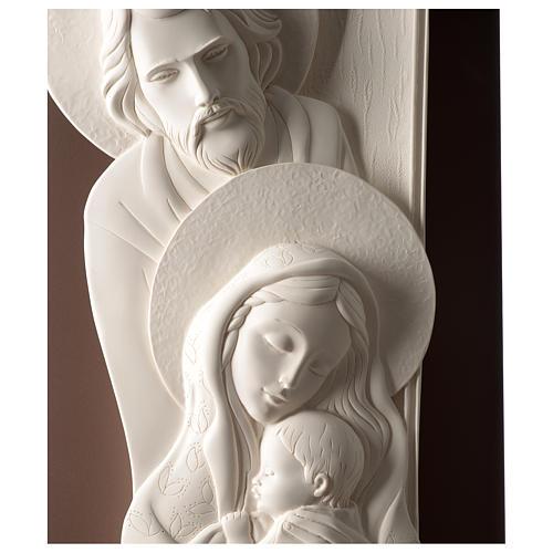 Quadro Sacra Famiglia verticale resina e legno 2
