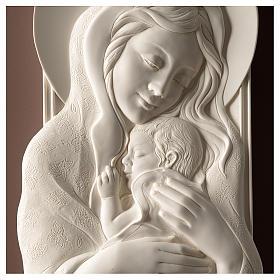 Quadro Maternità verticale resina bianca e legno tortora s2