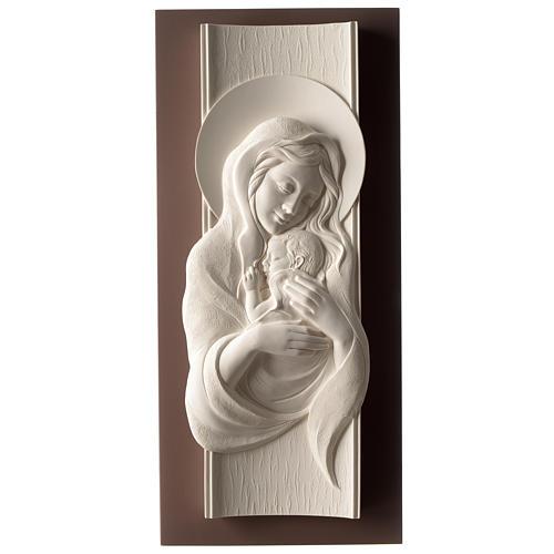 Quadro Maternità verticale resina bianca e legno tortora 1