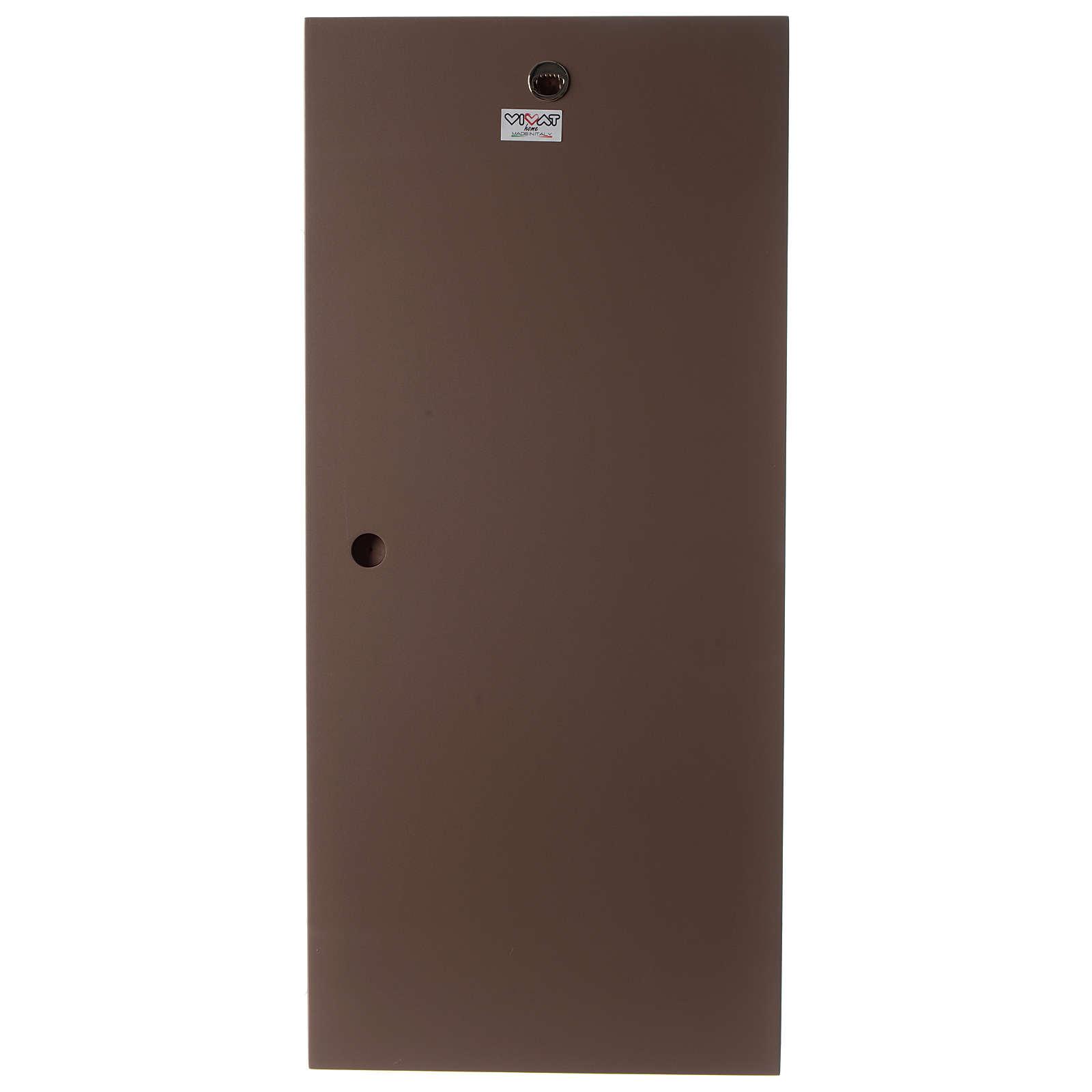 Quadro S. Famiglia stilizzata verticale bicolore resina e legno 3