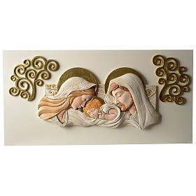 Obraz nad łóżko Święta Rodzina żywica kolorowa 40x80 cm s1
