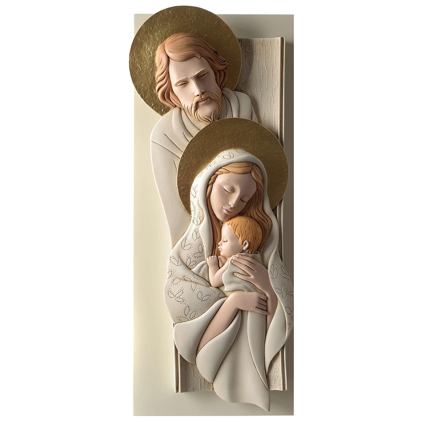 Cuadro S. Familia detalles oro resina y madera vertical 3