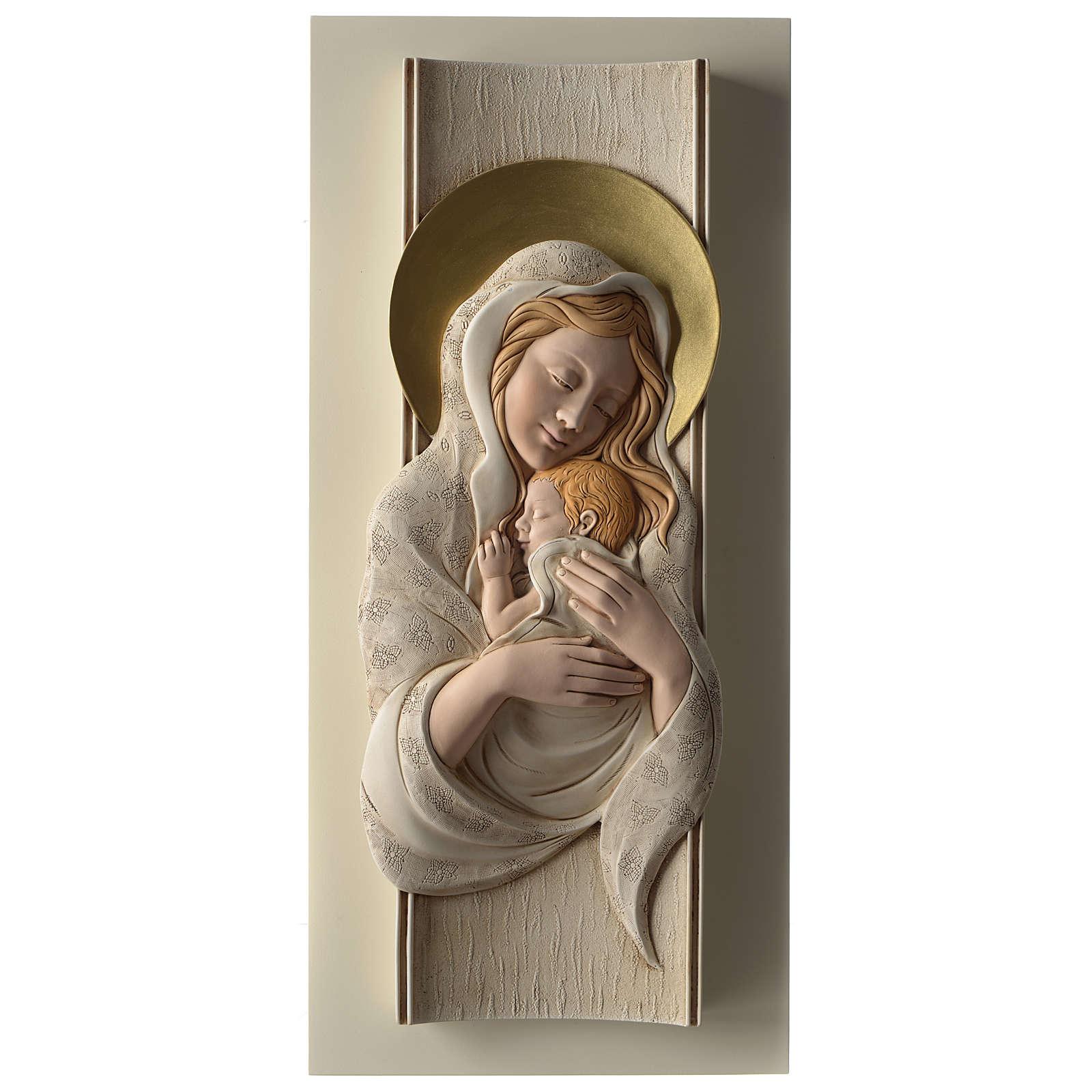 Quadro della Maternità verticale in resina colorata e legno 3