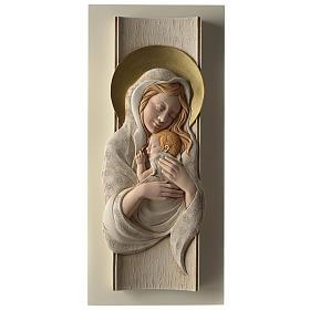 Quadro della Maternità verticale in resina colorata e legno s1