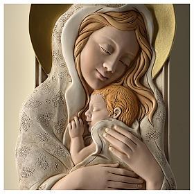Quadro della Maternità verticale in resina colorata e legno s2
