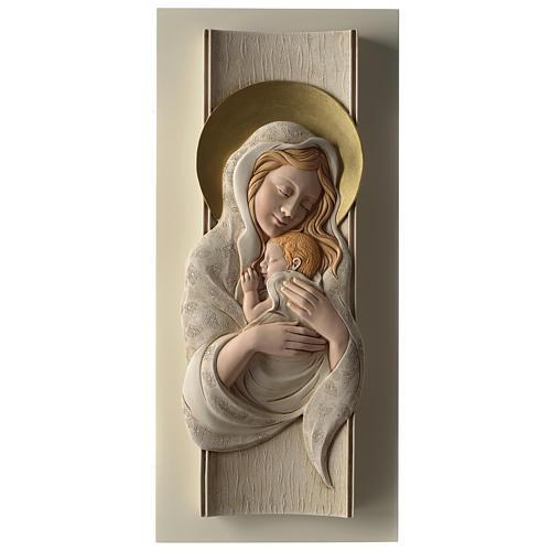 Quadro della Maternità verticale in resina colorata e legno 1