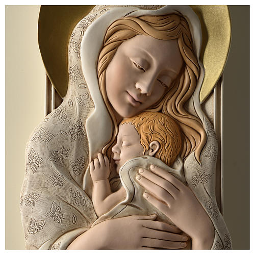 Quadro della Maternità verticale in resina colorata e legno 2
