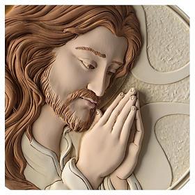 Płaskorzeźba Oblicze Chrystusa żywica kolorowa s2