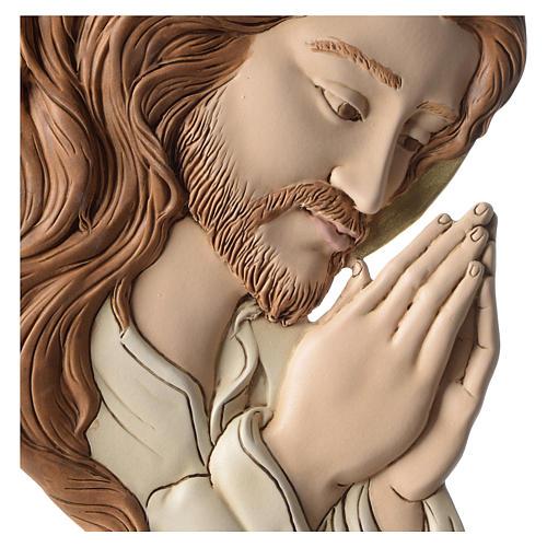 Bassorilievo profilo del Volto di Cristo resina colorata 2