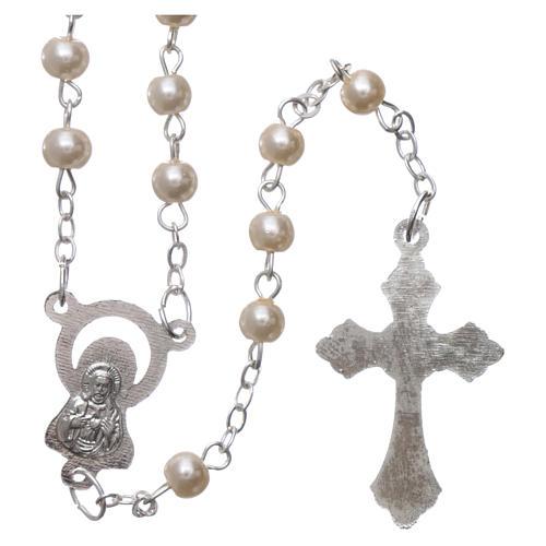 Cartulina recuerdo comunión salmo y rosario 3