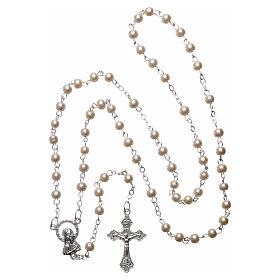 Cartoncino ricordo comunione salmo e rosario s5