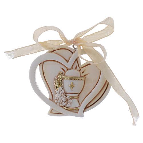 First Communion favour, heart shaped 5 cm 1