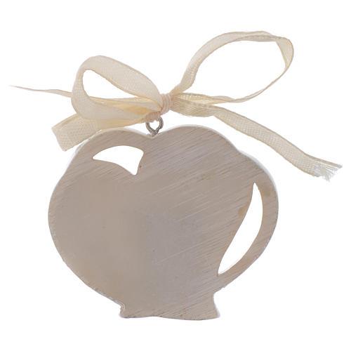 First Communion favour, heart shaped 5 cm 2