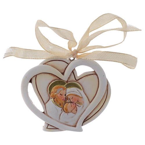 Holy Family souvenir heart 2 in 1