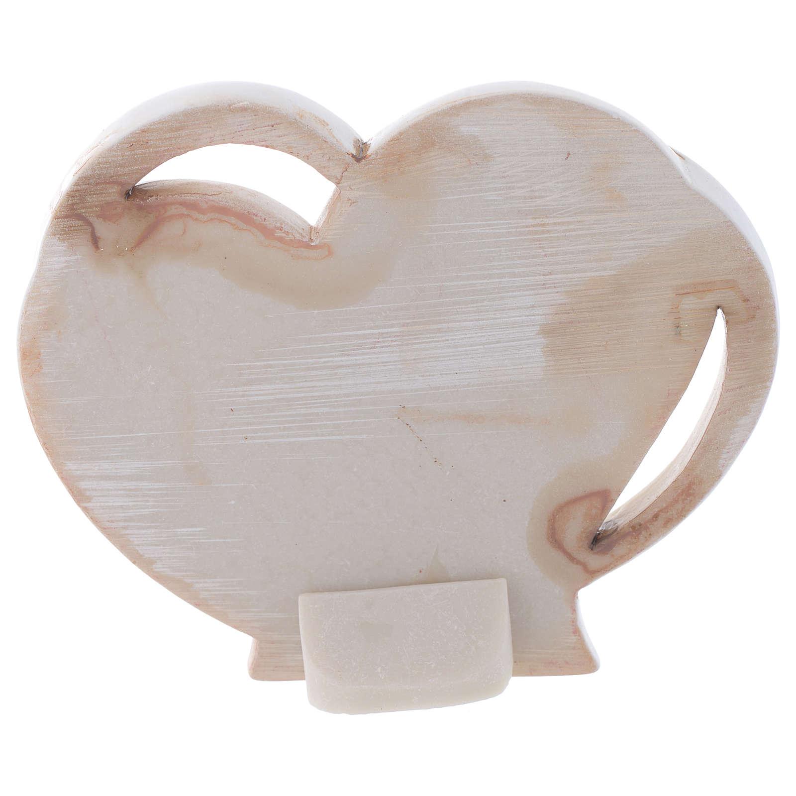 Baptism favour, heart shaped 9 cm 3