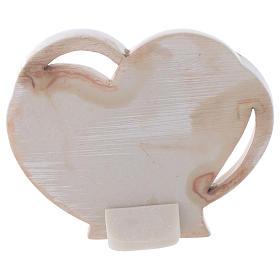 Baptism favour, heart shaped 9 cm s2