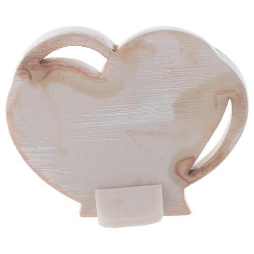 Baptism favour, heart shaped 9 cm 2