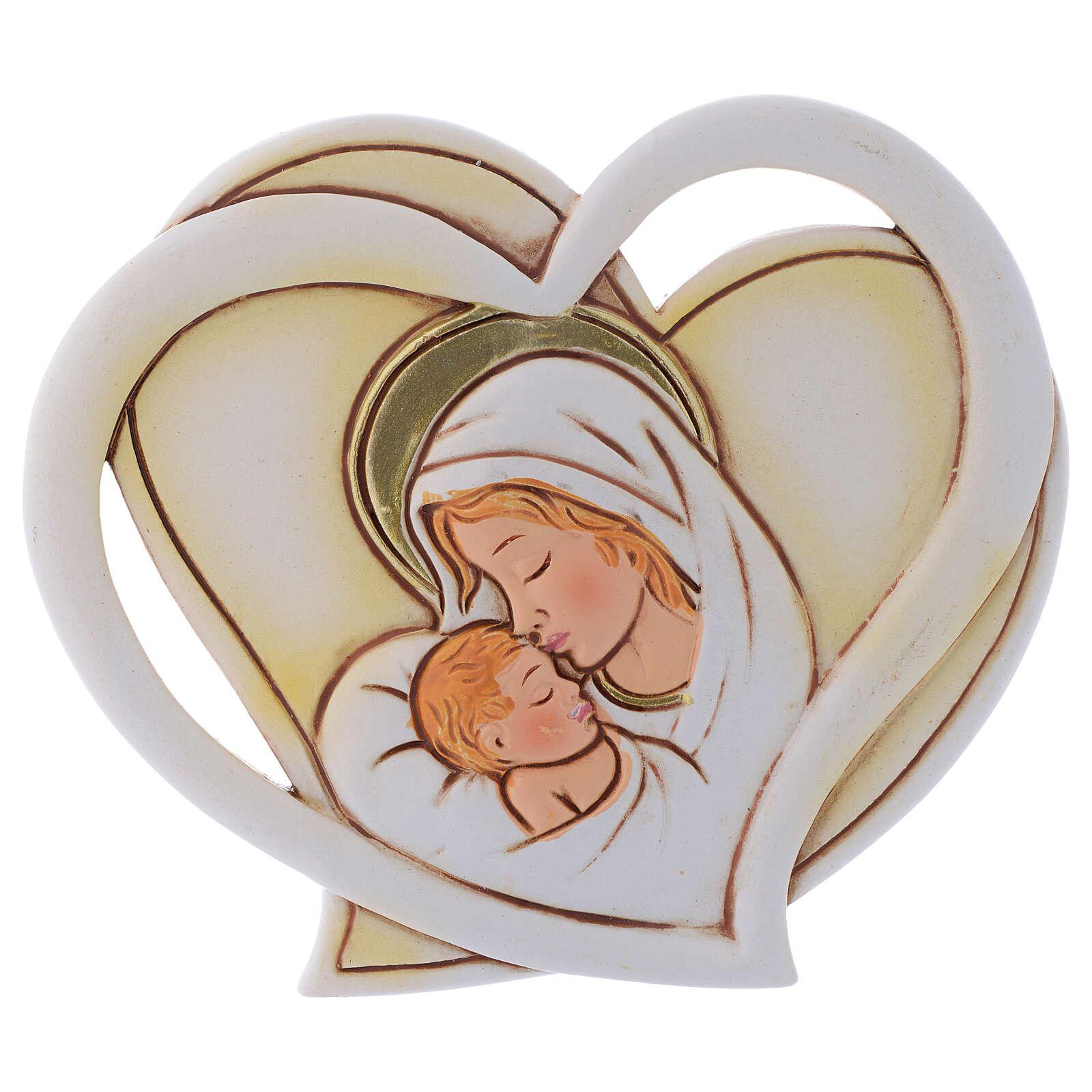 Baptism souvenir heart h 4 in 3