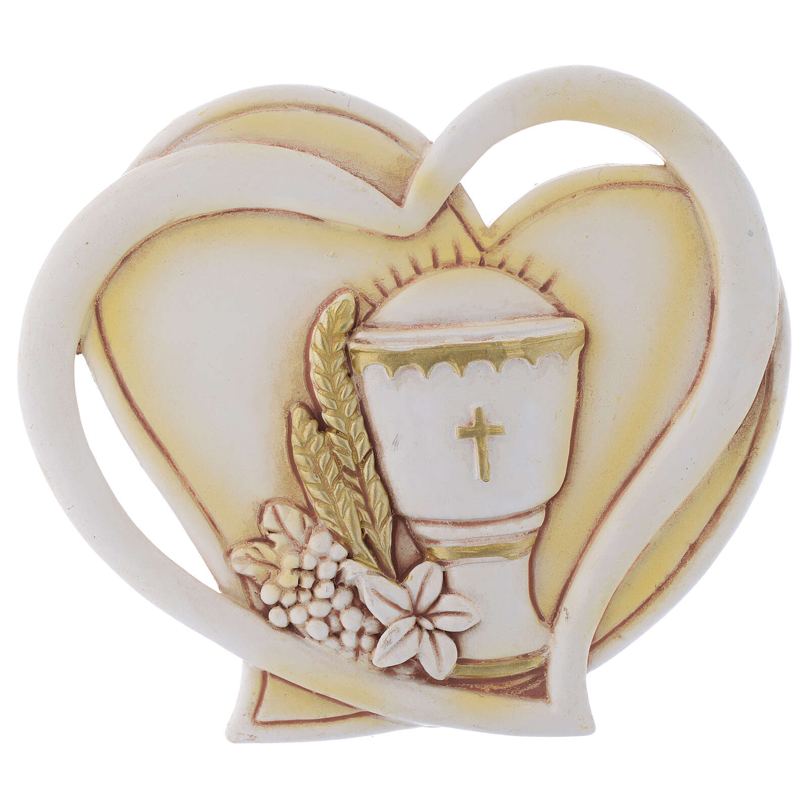 Heart shaped souvenir for Holy Communion h 4 in 3