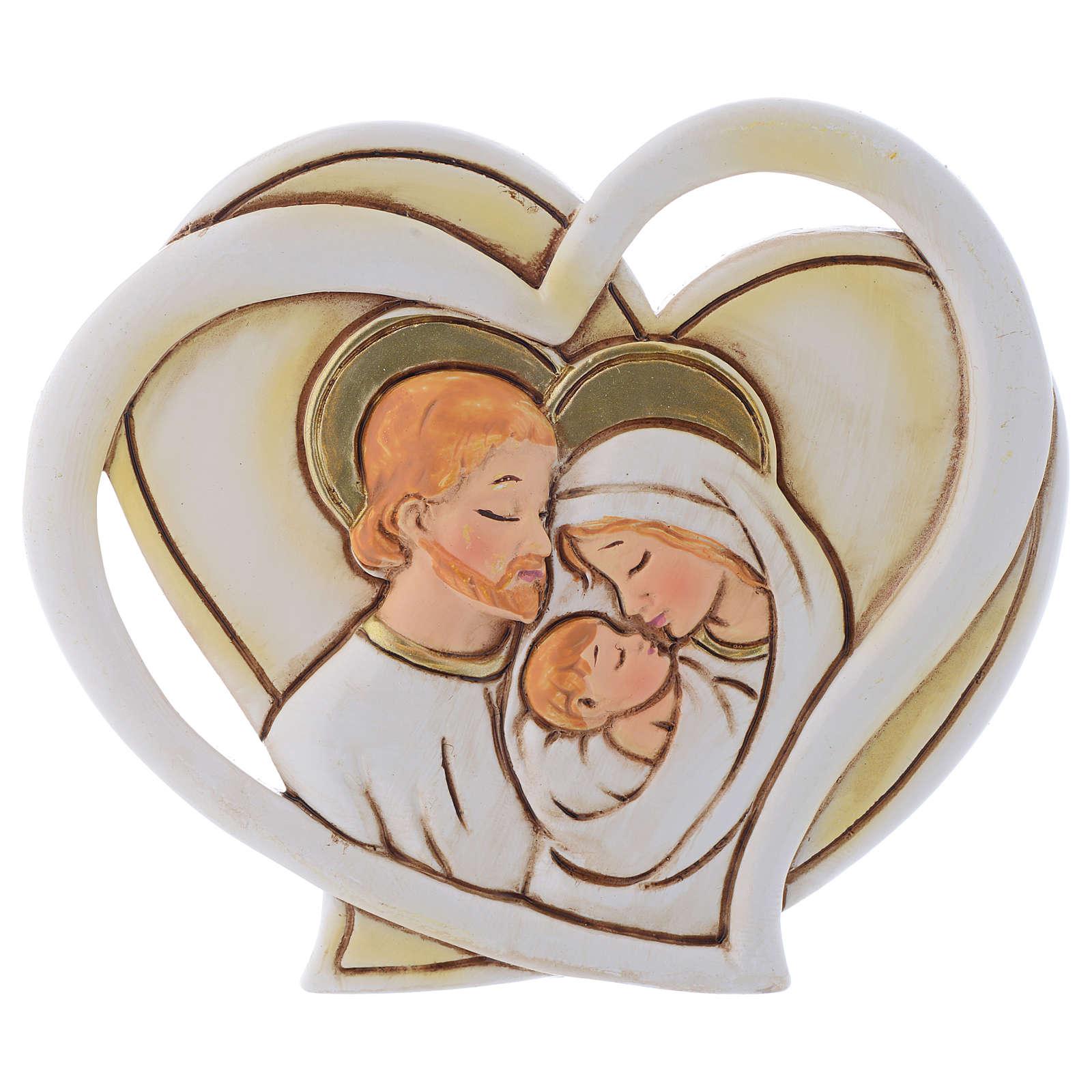 Bonbonnière religieuse Ste Famille coeur 9 cm 3