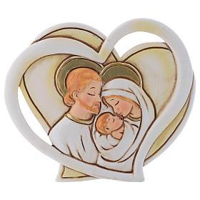 Bonbonnière religieuse Ste Famille coeur 9 cm s1