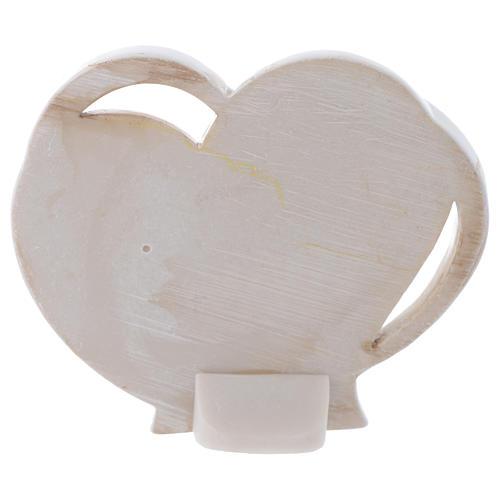 Bomboniera religiosa S. Famiglia cuore 10 cm 2