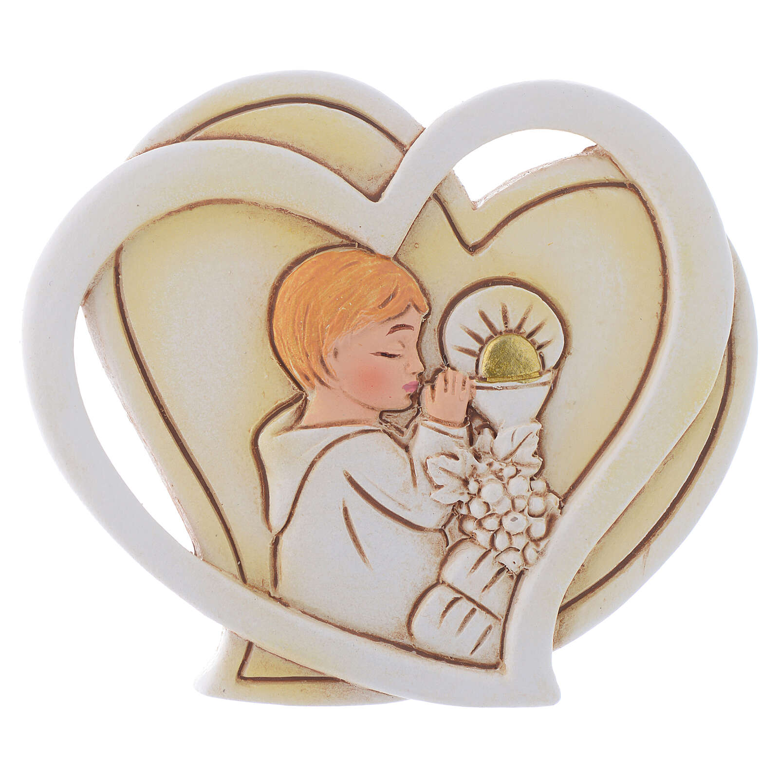 Holy Communion souvenir for Boy heart 2 in 3
