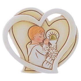 Holy Communion souvenir for Boy heart 2 in s1