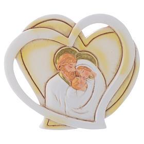 Bomboniera a forma di cuore S. Famiglia 5 cm s1