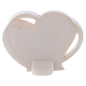 Bomboniera a forma di cuore S. Famiglia 5 cm s2