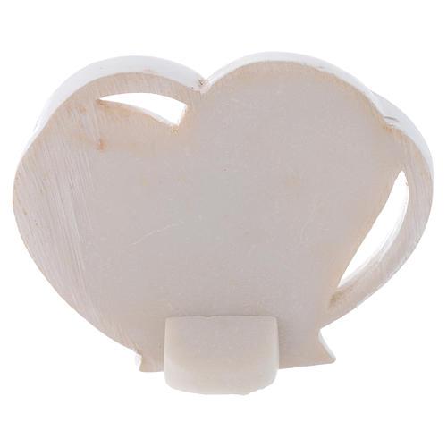 Bomboniera a forma di cuore S. Famiglia 5 cm 2